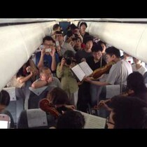 WATCH: Philadelphia Orchestra Pop-up performance on delayed airplane