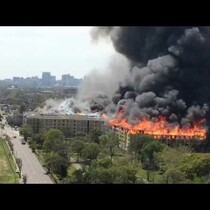 Massive Fire in Houston, TX!