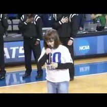 Autistic Girl sings the Hell outta the National Anthem