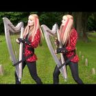 Check out The Harp Twins playing