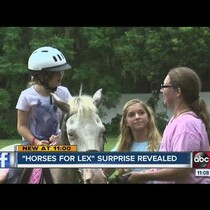 #WhatsAwesome - 'Horses For Lex' Facebook page helps sick girl's dreams come true