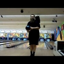 Guy Almost Bowls Perfect Game- BACKWARDS!