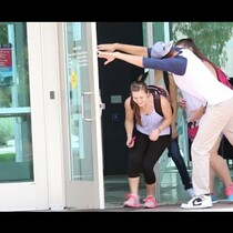 VIDEO: Awkward Door Holding!