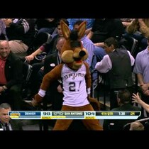 WATCH: The Spurs Coyote Loses His Eyeballs