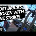 A Guy Smashes 82 Concrete Blocks at Once... Sets New Record