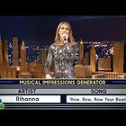 Celine Dion Plays 'Wheel of Musical Impressions'