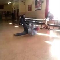 Teacher Busts Out Break Dancing Skills