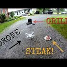 Steak cooking with drones