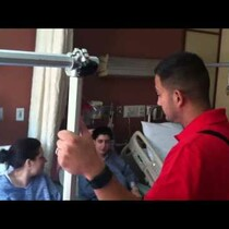 Boston Bombing Victims Get Inspiring Visit From Marine Amputees