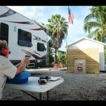 Big Pine Key resident builds his own gun range!