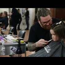 3 year old donates hair to Locks of Love - watch this!!