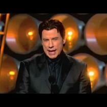 John Travolta gets another chance to pronounce Idina Menzel.