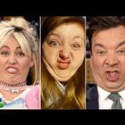 Fallon with Funny Face Off with Miley Cyrus