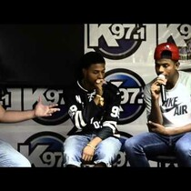 DIGGY SIMMONS AND TREVORJACKSON IN K97 BACKSTAGE LOUNGE