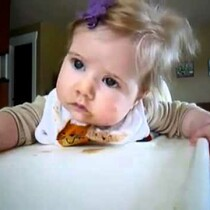 Let Her Sleep!....watch as this sweet baby attempts to stay awake while eating