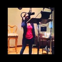 Justin Bieber's Mom Recording a Song