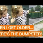 Little girl wants to go into a dumpster and it's so CUTE