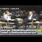 1992 - Watch a Young Clinton Political Operative George Stephanopoulos Call the Larry King Show To Confront George H.W. Bush