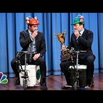 Liam Hemsworth Scooter Races Jimmy Fallon
