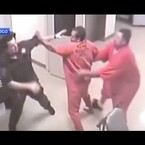 VIDEO: Inmate Helps Jailer Who's Is Being Attacked