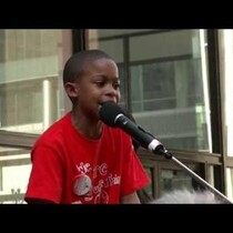 AMAZING: 9 year old Asean Johnson brings the crowd to their feet at Chicago school closings rally