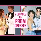 Prom dresses have changed over the years...  HA!