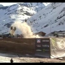 What happens when you try for a world record jump and don't quite make it?