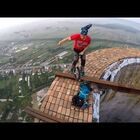 Daredevil Does Insane Stunts on Huge Chimney (video)