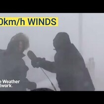Weatherman Blown Off Camera During Blizzard