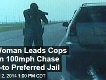 WATCH: A woman led police on a chase...so she could go to a specific jail.