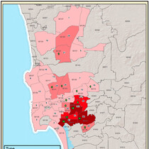 Which section of San Diego has the most gang activity?