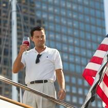 Leo toasts to MTV Movie Awards noms.