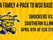 Win A Family 4-Pack to WSU Baseball!