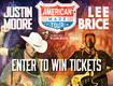 Enter to win tickets to the American Made Tour with Justin Moore and Lee Brice