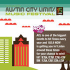 This Weekend Win Your Way To Austin City Limits!