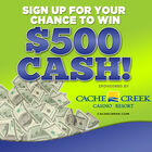 Win $500 cash from Cache Creek Casino Resort! - August