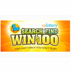California Lottery Search Find Win $100