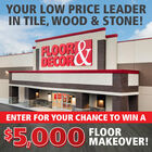 The iHeartRadio Floor & Decor $5,000 Sweepstakes!