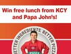 Win Free Lunch from Papa John's and KCY!