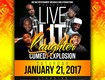 Win a pair of tickets to Live Lit Laughter Comedy Explosion