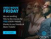 Free Movie Fridays with Atom Tickets