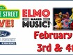 Sesame St. Live Elmo Makes Music Feb. 3rd @ Ford Arena