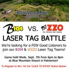 Join our B104 Laser Tag Team!