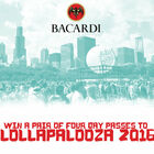 Win a pair of four day passes to Lollapalooza 2016 from Bacardi