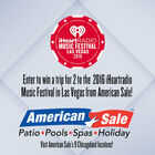 Win a trip for 2 to the 2016 iHeartRadio Music Festival in Las Vegas from American Sale!