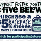 Join The Backpack Challenge At Five Below with WDAS!