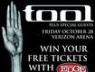 Win Tool Concert Tickets!