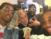 Migos pulls out allot of money to stunt with ellen