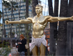 Kanye West Life-Size Crucifixion Sculpture Installed On Hollywood Boulevard
