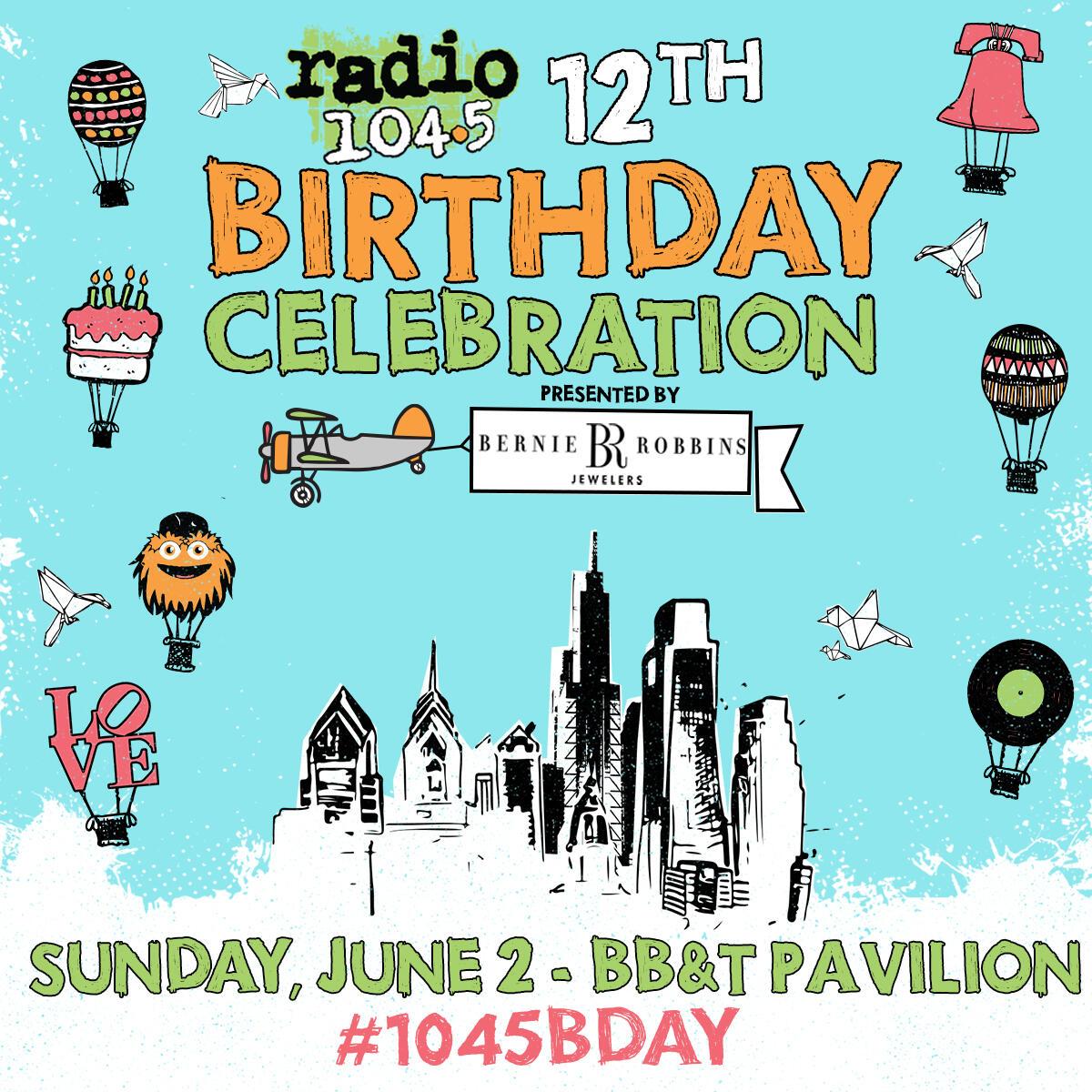 104 5 Birthday Show 2020.Birthday Celebration Radio 104 5